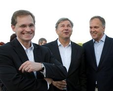 Michael Müller, Klaus Wowereit and Manfred Uhlitz